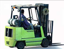 picture of forklift LPG cylinder