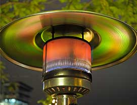 picture of patio heater LPG